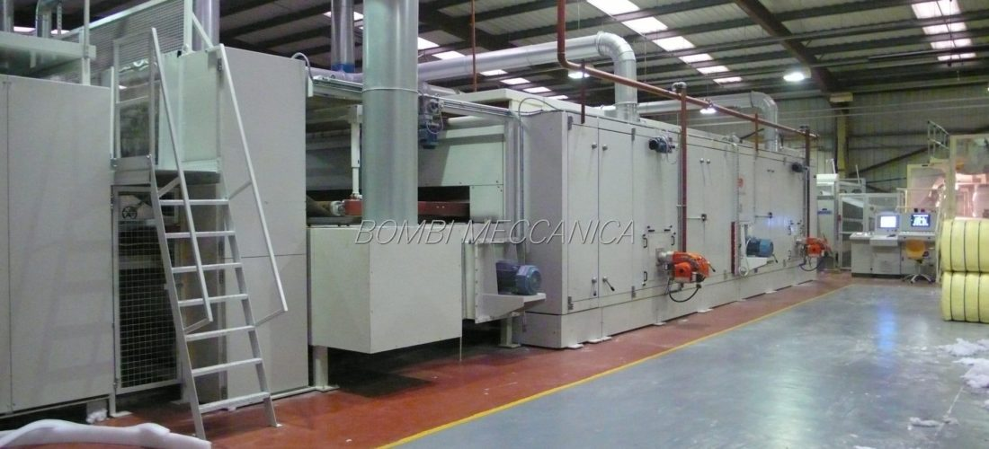 3 SECTIONS OVEN FOR HEAVY POLYESTER PADS. UP TO 1.000kg/h